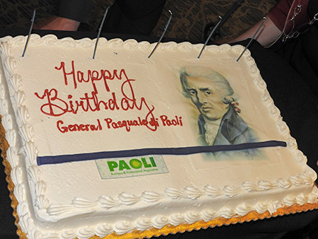 Birthday cake in honor of General Paoli